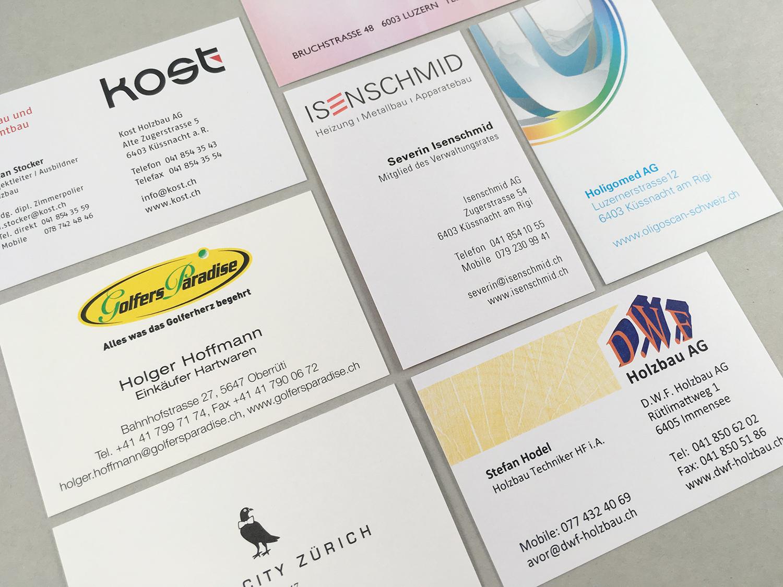 Visitenkarten Druckcenter Am Rigi